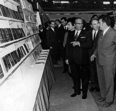 Јосип Броз Тито у посети Сајму књига